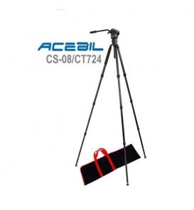 Acebil CS-08/CT724 Profesyonel Karbon Fiber Tripod